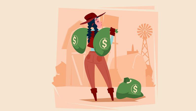 Landbrug kraever penge