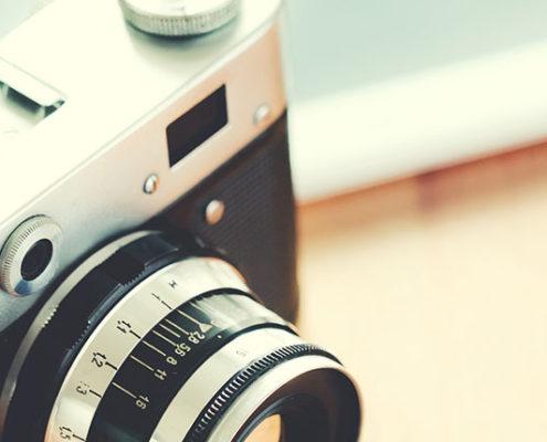 gammelt kamera og ipad
